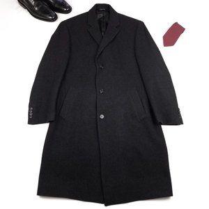 Jos. A. Banks Men's Black WOOL Trench Coat 40R